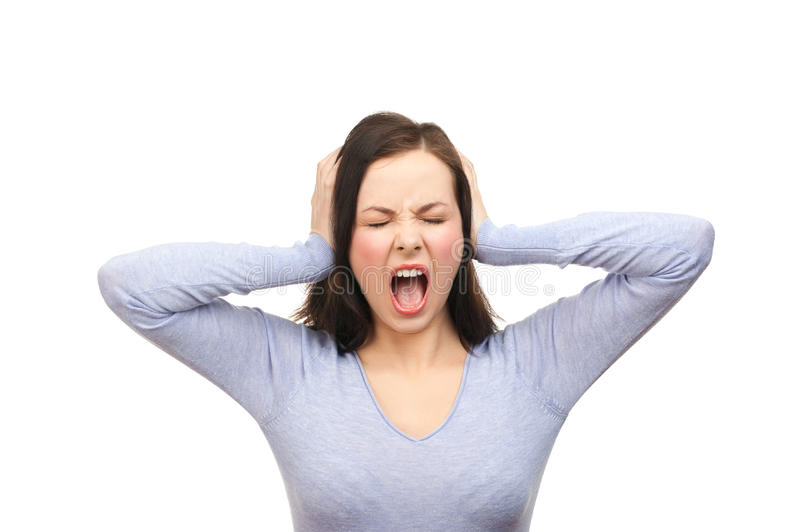 Download Unhappy woman screaming stock photo. Image of displeasure - 24492776