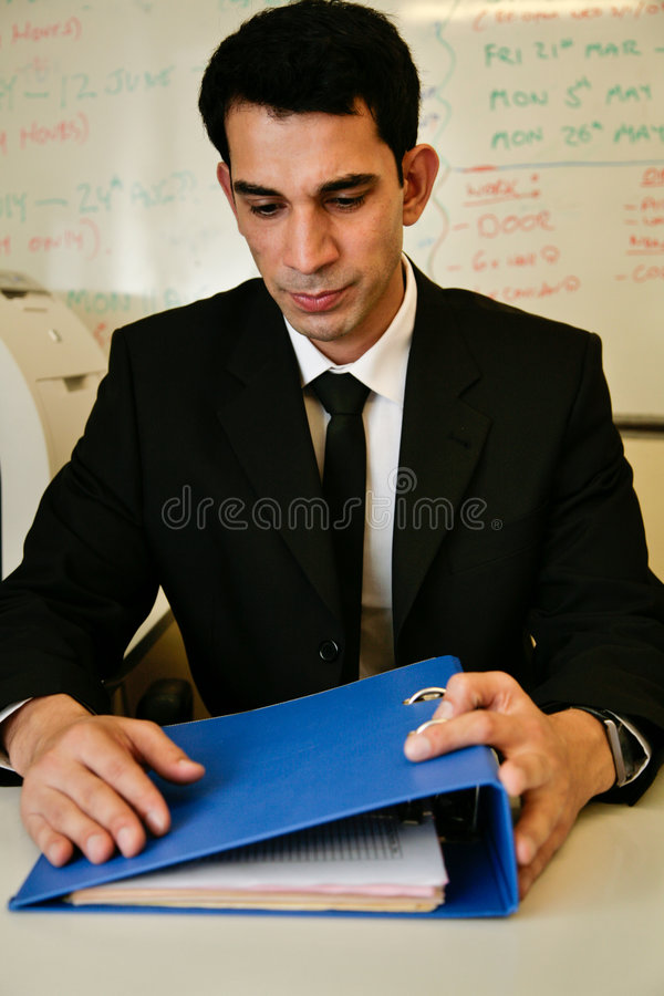 Unhappy worker stock photo