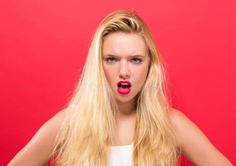 Unhappy young woman royalty free stock photos