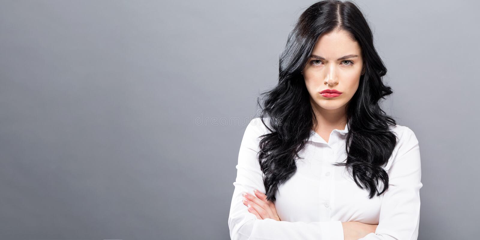 Unhappy young woman royalty free stock images