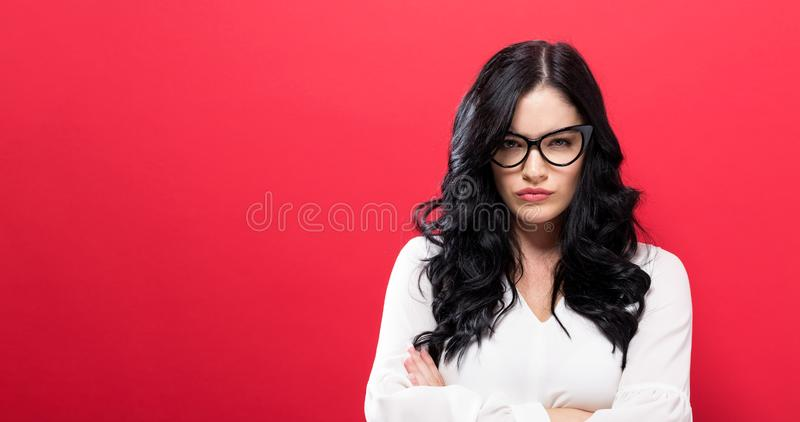 Unhappy young woman stock images