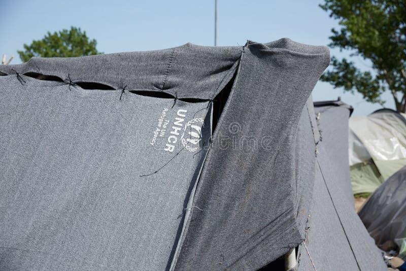 UNHCR-tält royaltyfria bilder