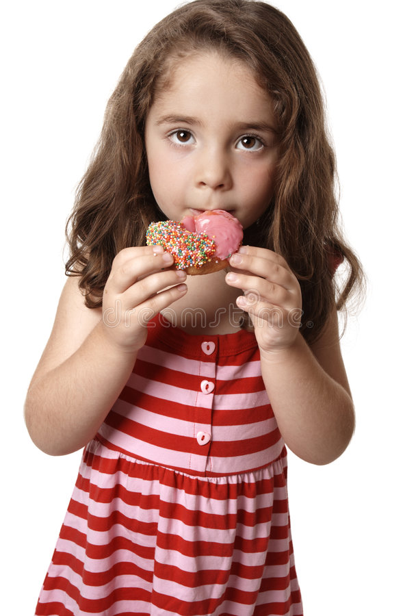 Download Unhealthy eating stock photo. Image of sugary, girl, doughnut - 8351394