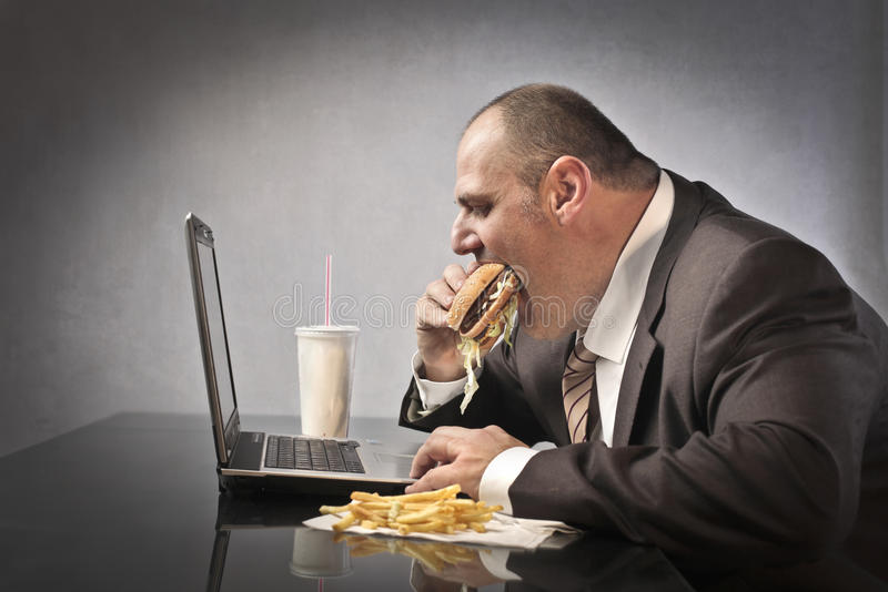 Unhealthy lifestyle royalty free stock photos
