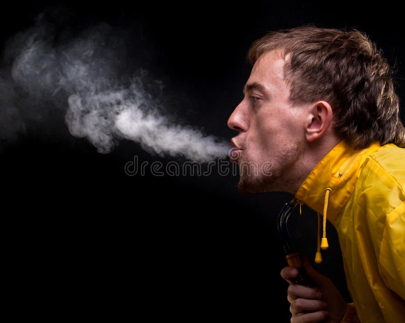 Unhealthy smoke royalty free stock image
