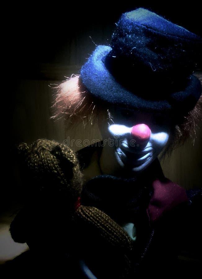 Unheimliche Clownliebe trägt auch stockfotos