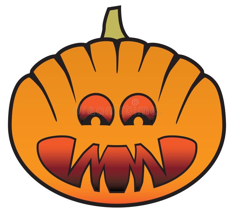 Unheimlicher Karikatur-Halloween-Kürbis lizenzfreie abbildung