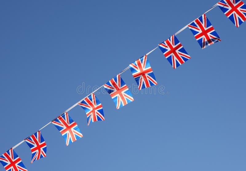 União britânica Jack Flag Bunting Row fotos de stock