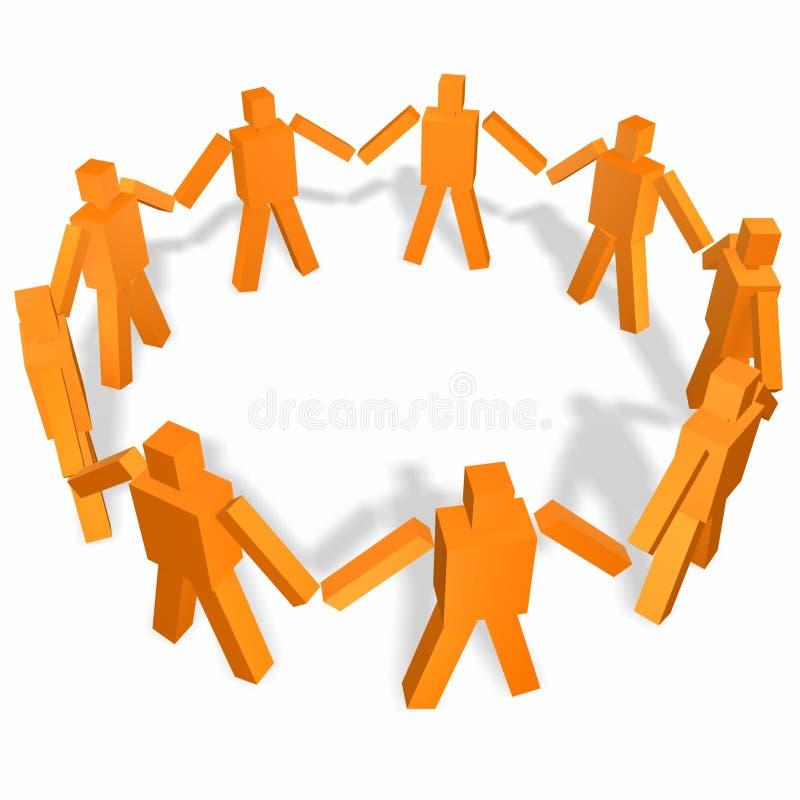 União da equipe ilustração do vetor