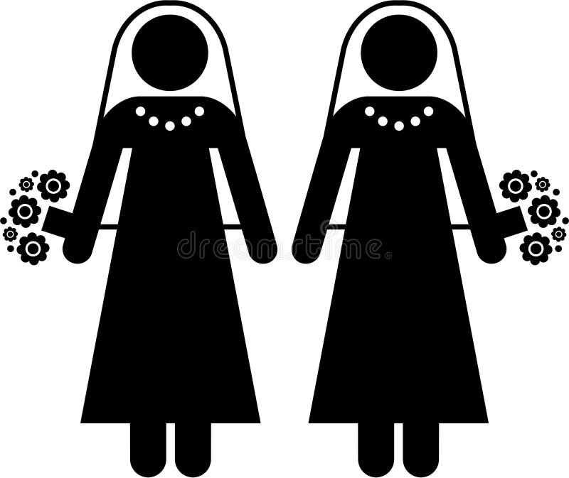 União da lésbica ilustração royalty free