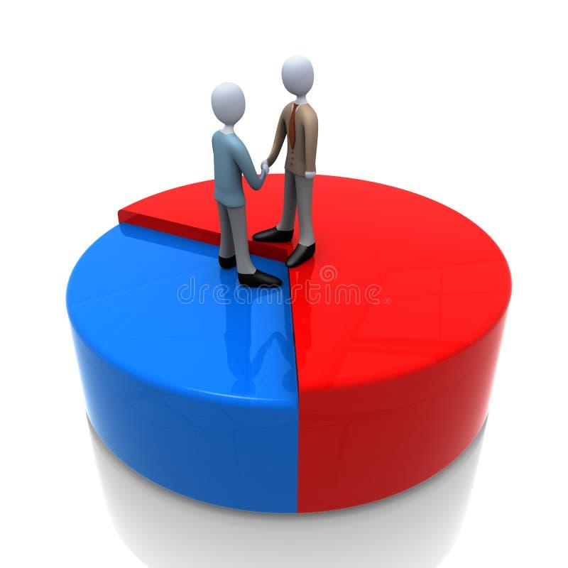 União do negócio ilustração do vetor