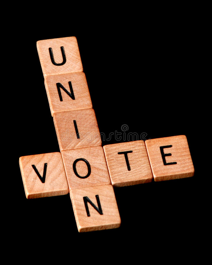 União do voto imagens de stock royalty free