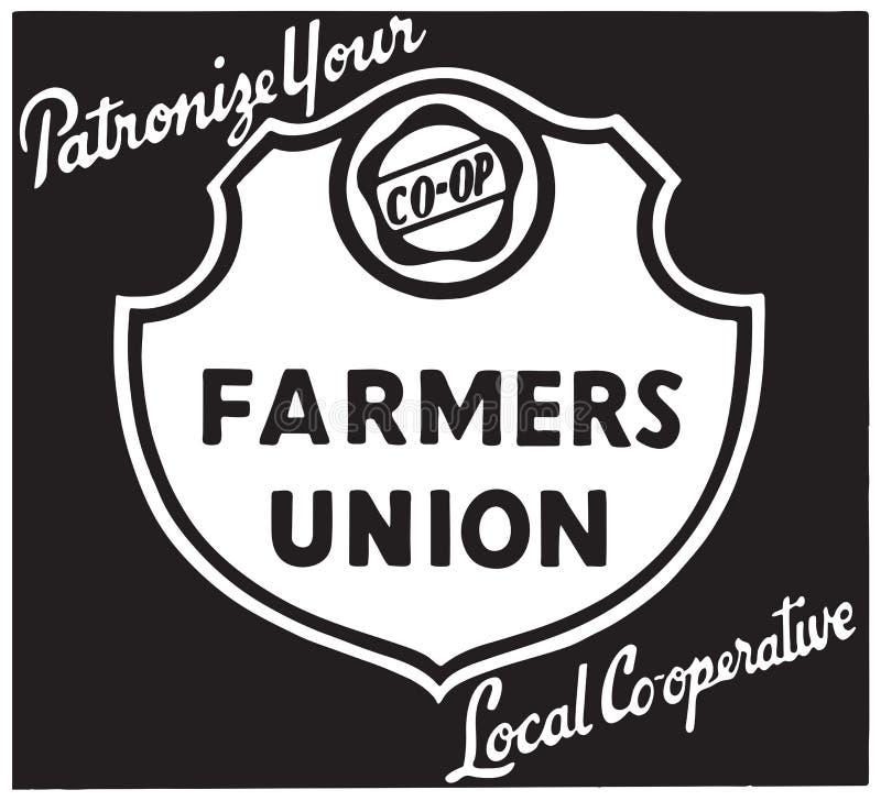 União dos fazendeiros ilustração royalty free