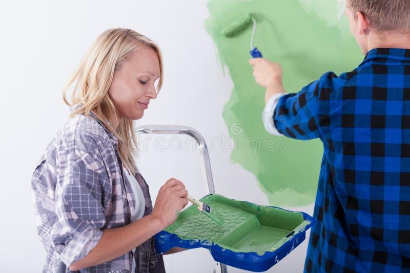 União durante a pintura de parede imagens de stock royalty free