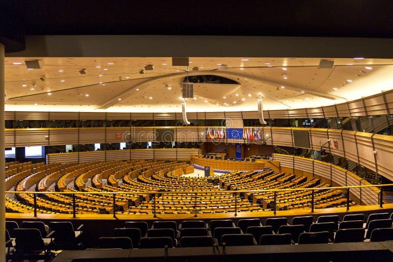 União Europeia Bruxelas Bélgica de Parlamento Europeu fotografia de stock