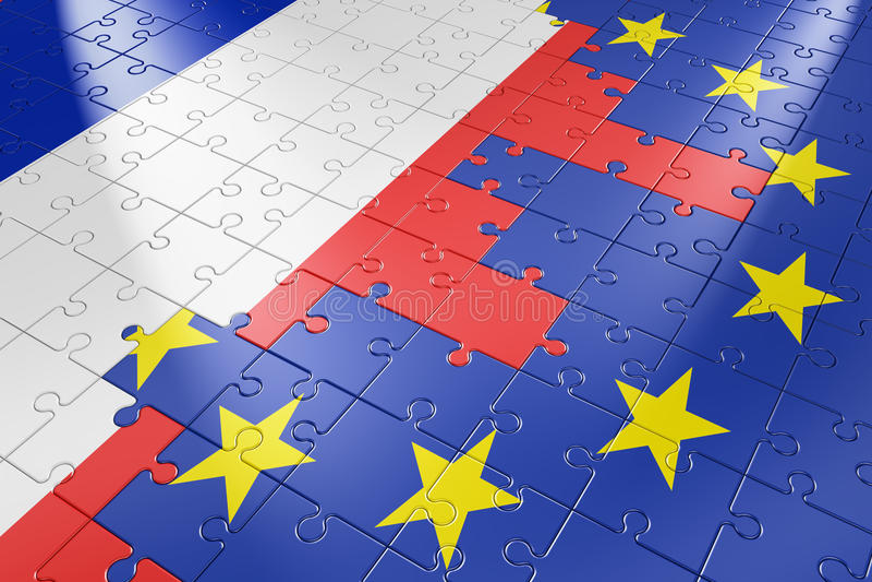 União Europeia e França do enigma ilustração do vetor