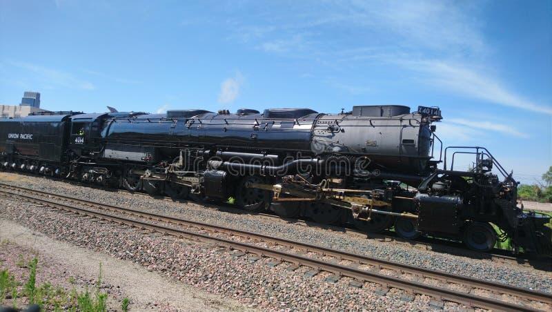 União grande histórica o Pacífico 4014 do motor de vapor do menino foto de stock royalty free