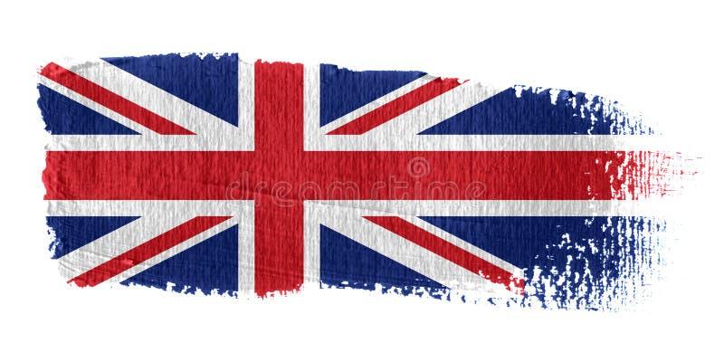 União Jack da bandeira do Brushstroke