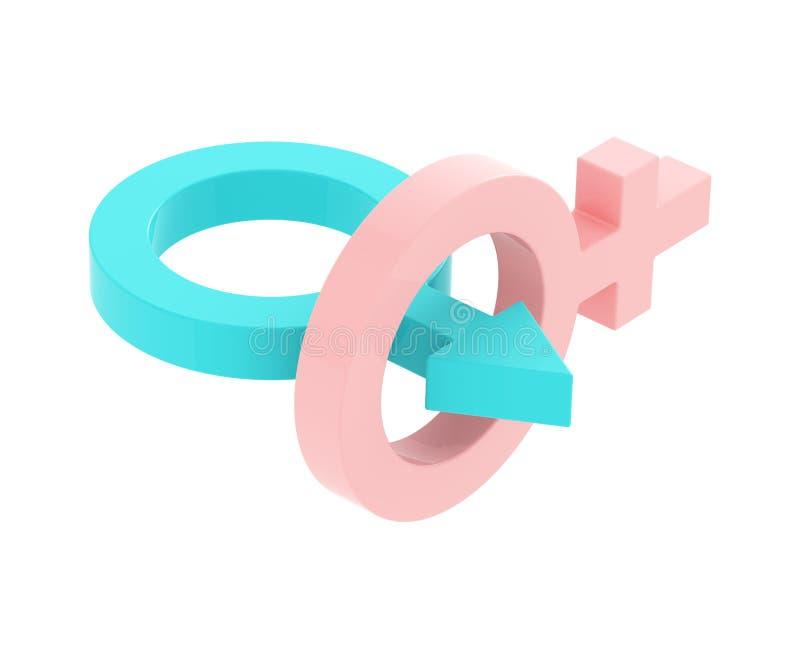 União masculina e fêmea dos símbolos ilustração stock
