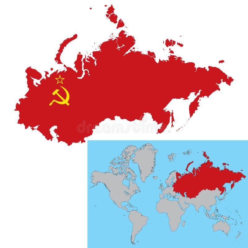 União Soviética ilustração stock