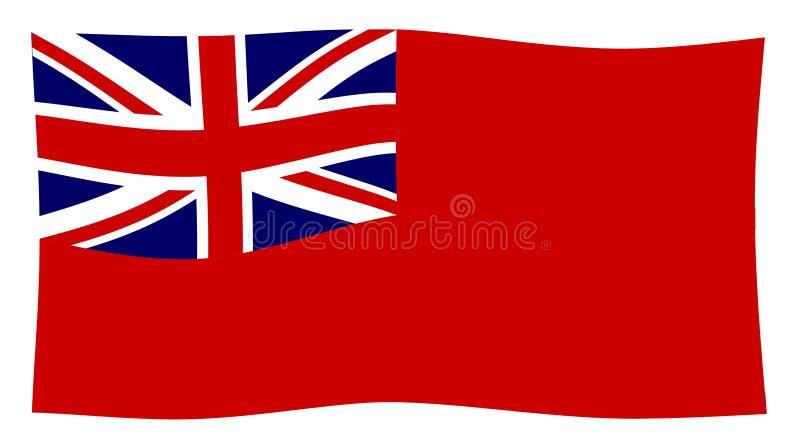 União vermelha Jack Waving do espanador ilustração royalty free