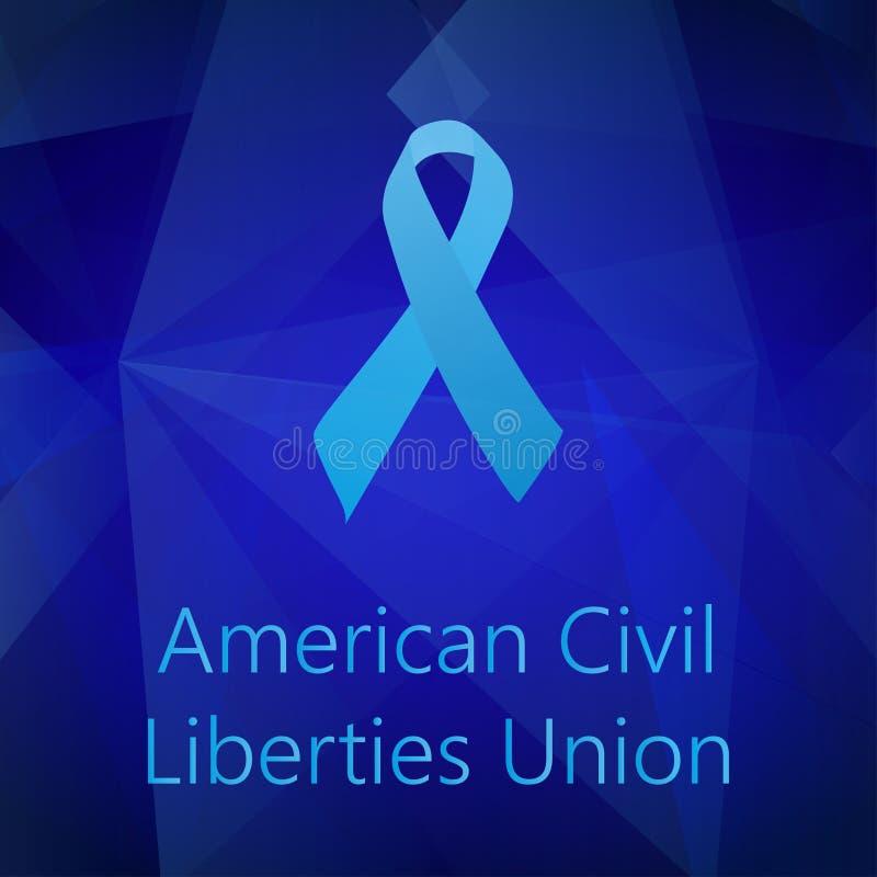 Unión americana Blue Ribbon de las libertades civiles stock de ilustración
