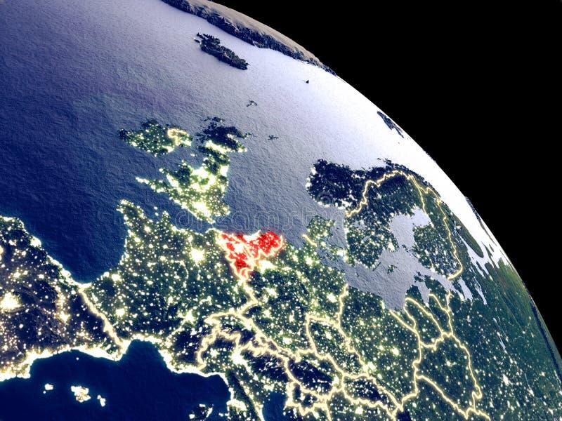 Unión de Benelux del espacio libre illustration