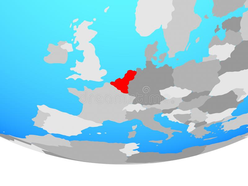 Unión de Benelux en el globo libre illustration