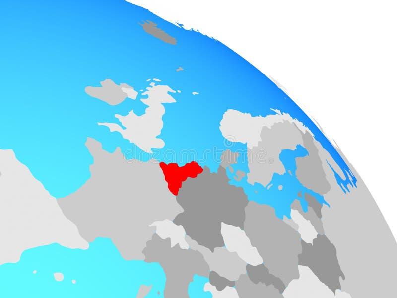 Unión de Benelux en el globo ilustración del vector