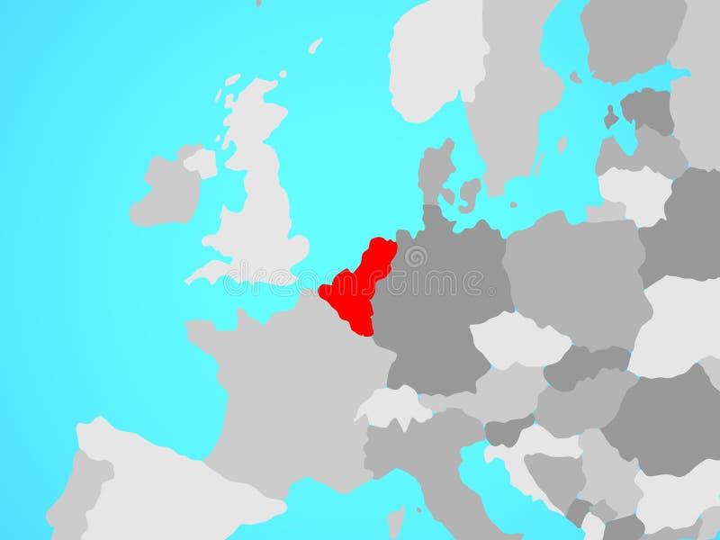Unión de Benelux en mapa stock de ilustración