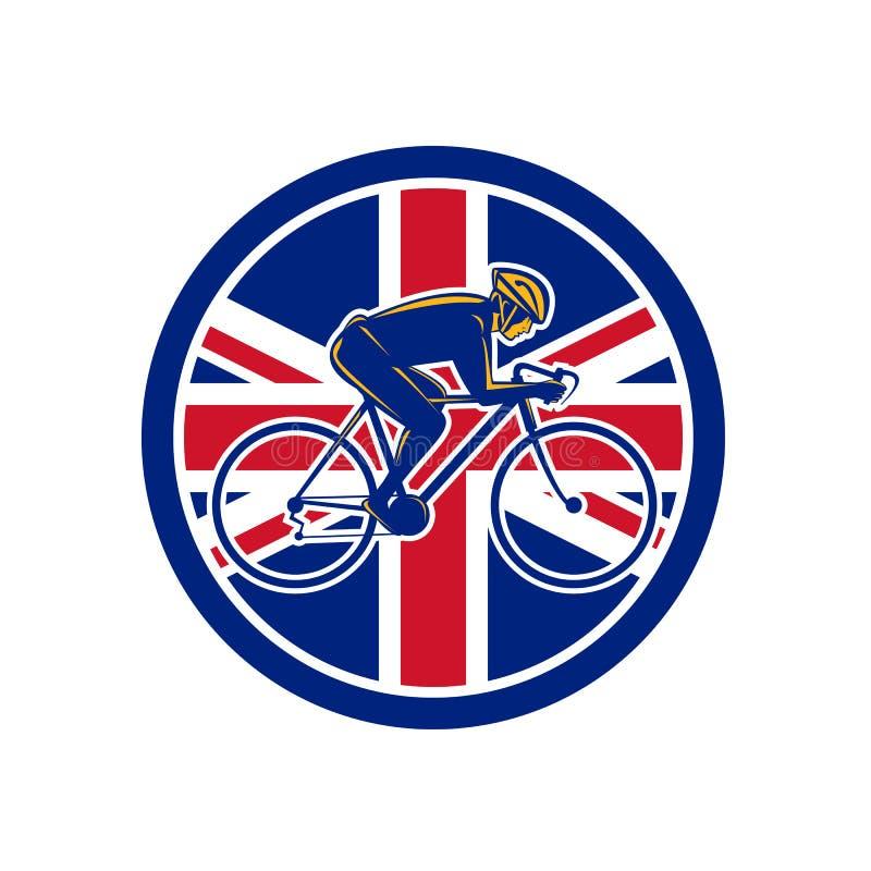 Unión de ciclo Jack Flag Icon del ciclista británico libre illustration
