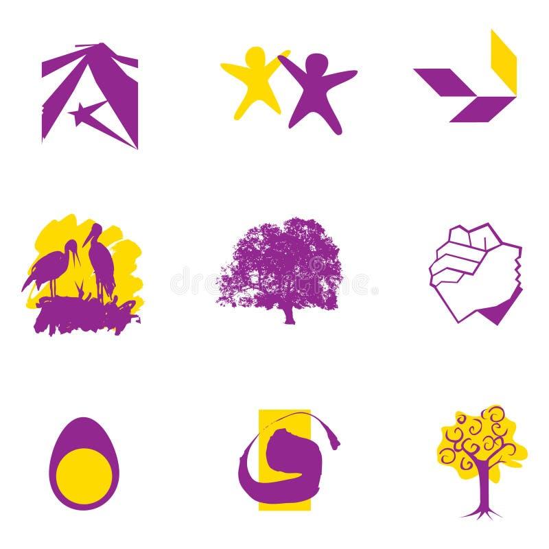Unión de la insignia y símbolos del crecimiento fotografía de archivo