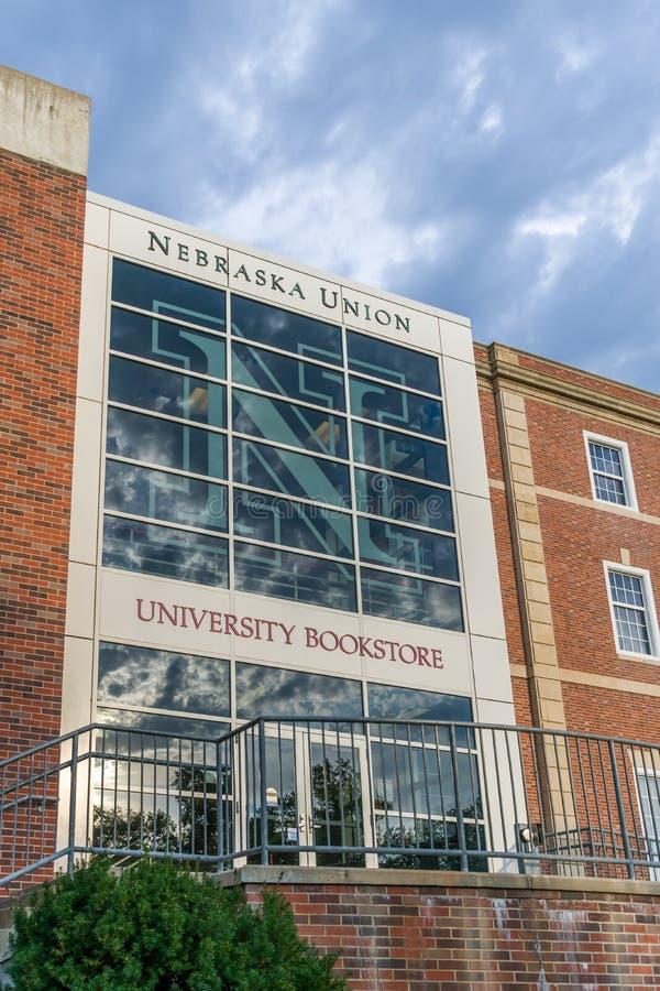 Unión de Nebraska y librería de la universidad imagen de archivo
