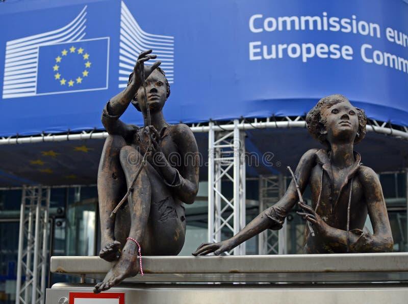 Unión europea - Comisión Europea foto de archivo libre de regalías