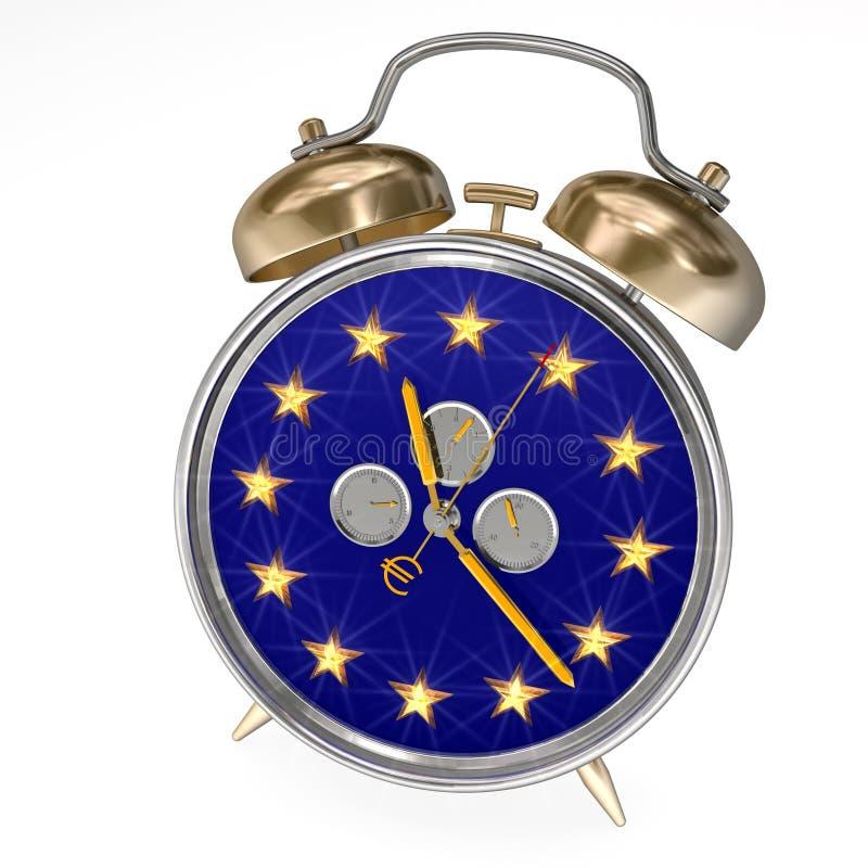 Unión europea del reloj de alarma foto de archivo