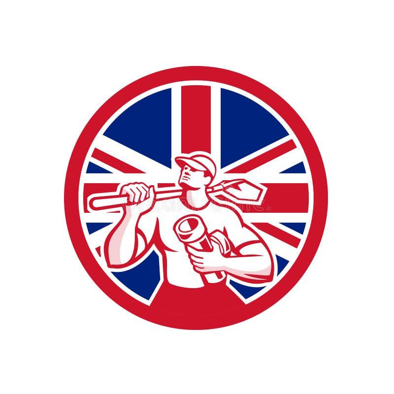 Unión Jack Flag Icon de británicos Drainlayer libre illustration