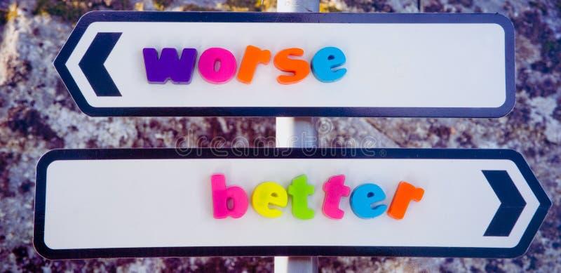 Unión para mejor o peor. imágenes de archivo libres de regalías