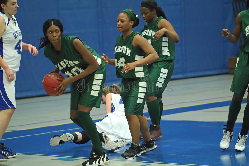 Uni-School-Basketball stockbilder