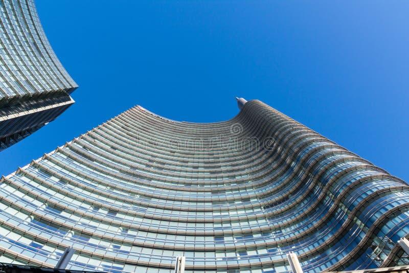 Uni secteur d'activité de tour de crédit Milan Italy Destination Travel SI image libre de droits