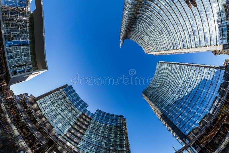Uni secteur d'activité de tour de crédit Milan Italy Destination Travel SI photos libres de droits