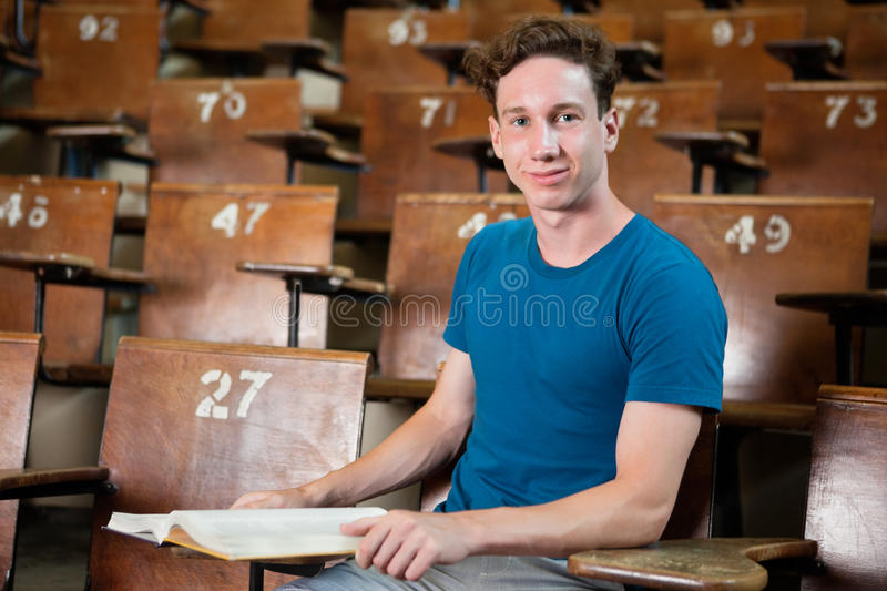 Uni Student in Lecture Hall royalty free stock images