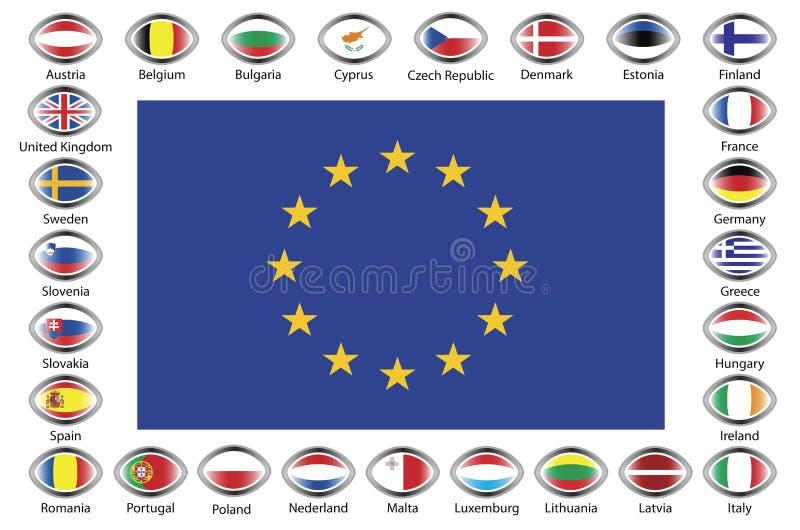 unia europejska ilustracja wektor