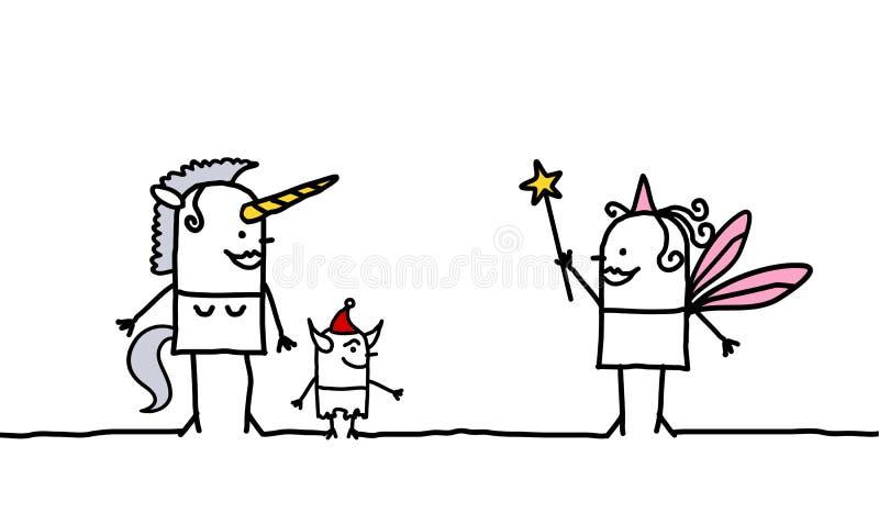 Unicórnio & Fairy ilustração royalty free