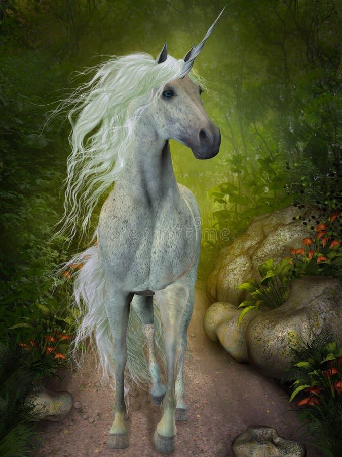 Unicórnio branco ilustração royalty free