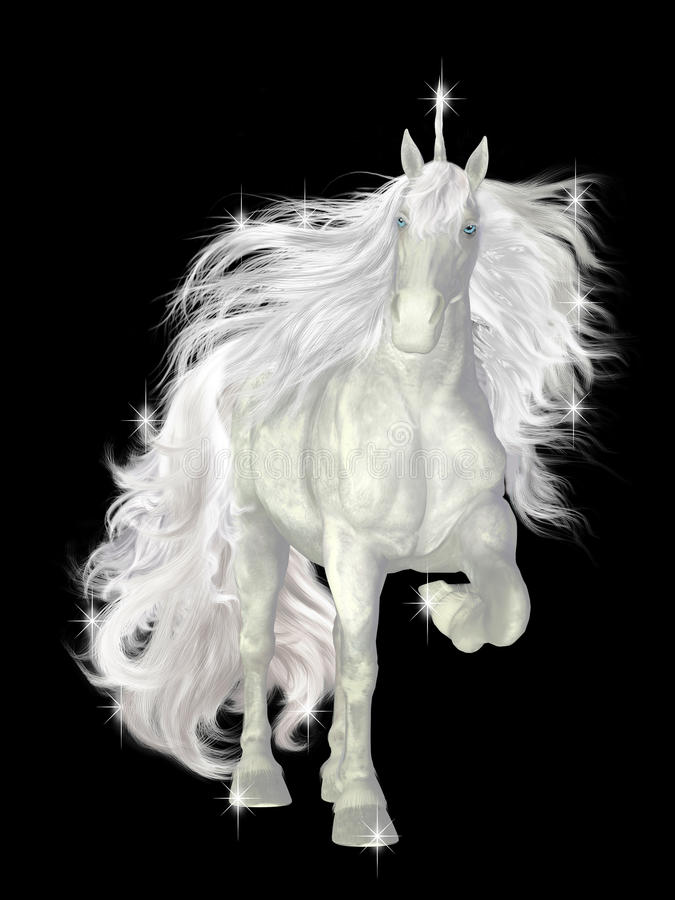 Unicórnio branco ilustração stock