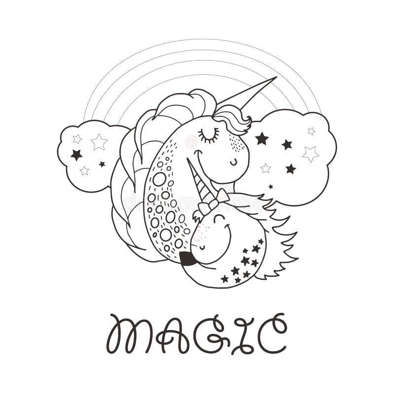 Unicornio Colorido Engracado E Hapy Do Estilo Dos Desenhos