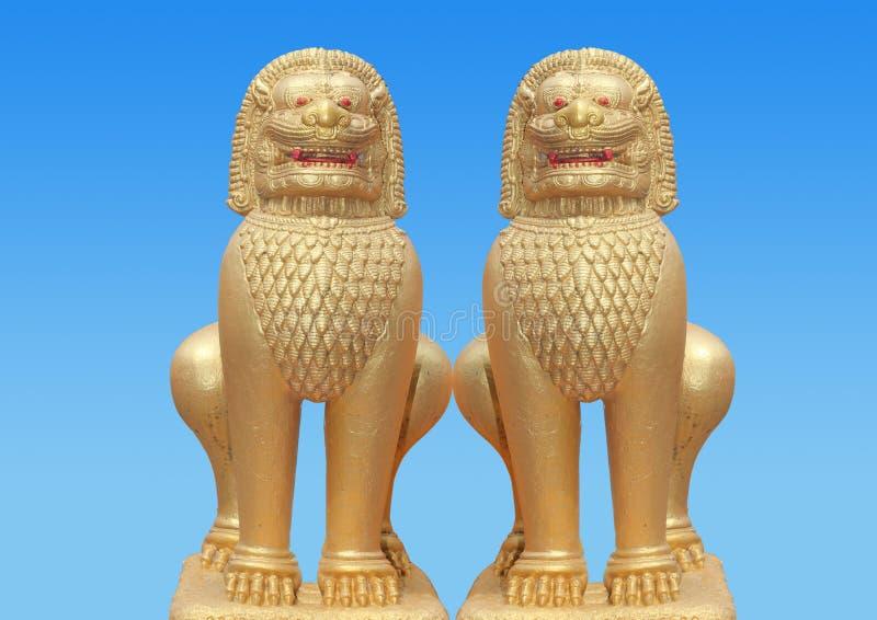 Unicórnio dourado do dragão 2 imagem de stock