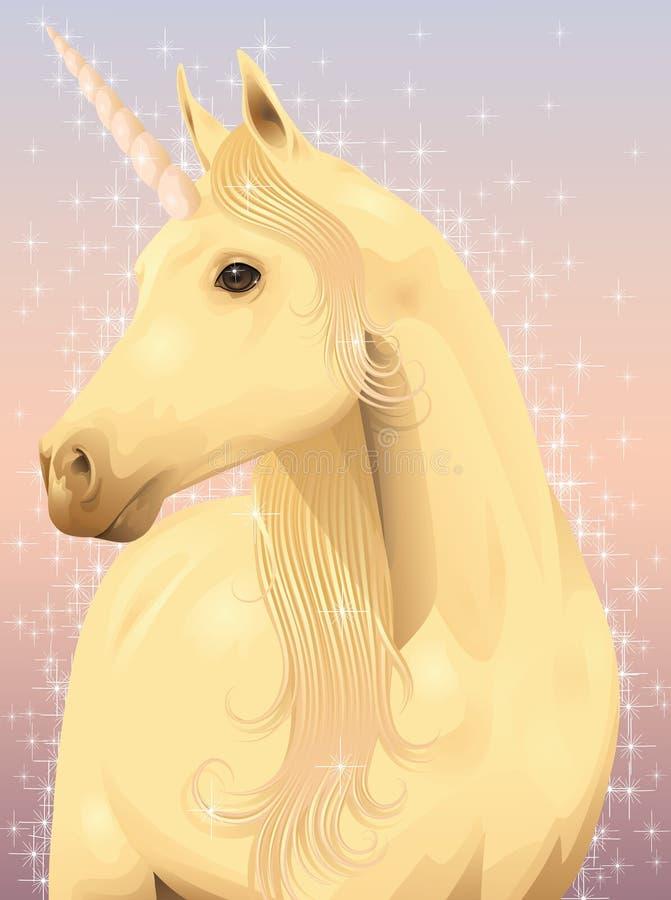 Unicórnio mágico. ilustração royalty free