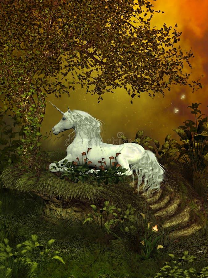 Unicórnio místico ilustração royalty free