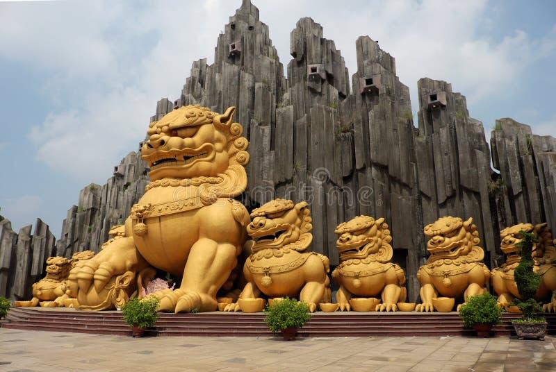 Unicórnio na área de turista de Suoi Tien foto de stock royalty free